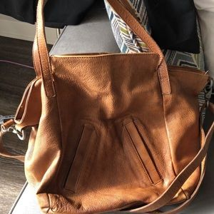 Light brown leather bag from Free People